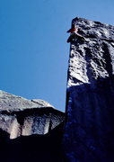 Rock Climbing Photo: BH on Bullet the Blue.