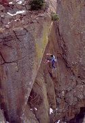 Rock Climbing Photo: BH taken to the air on New Horizon.