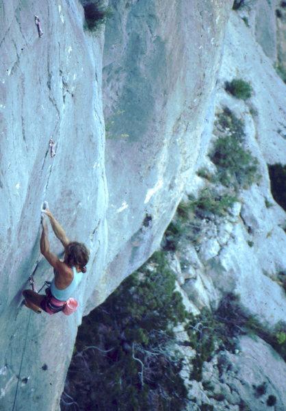 Rock Climbing Photo: Patrick Edlinger in the Verdon, photo: Bob Horan C...
