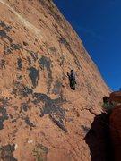 Rock Climbing Photo: Gary feeling better after first piece of pro.