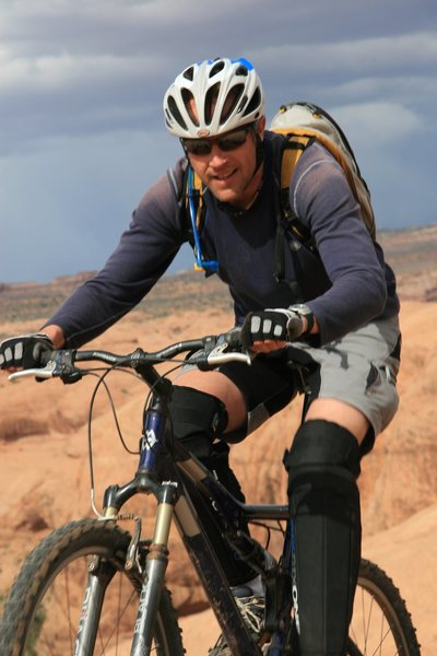 Biking in Moab, Porcupine rim,
