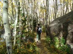 Rock Climbing Photo: Hiking in on a beautiful fall day, with no one els...
