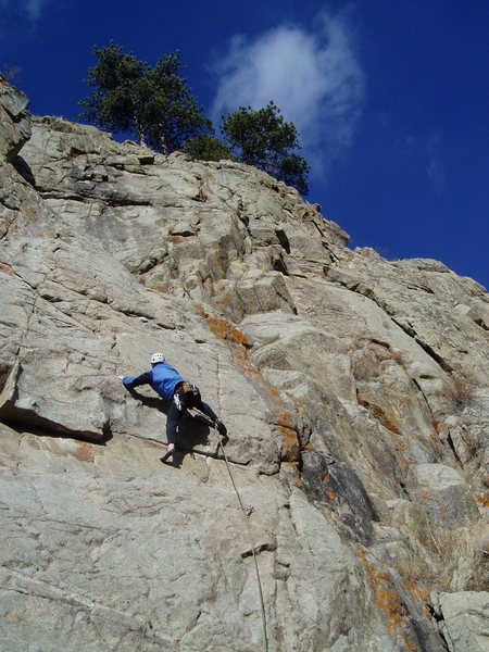 Kenny at the first crux.