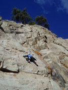 Rock Climbing Photo: Kenny on the continuing hard climbing above the ov...