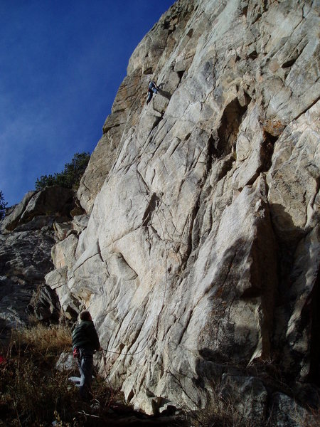 Rock Climbing Photo: Unknown climbers on Snooze Button in December '08.