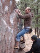 Rock Climbing Photo: Bouldering in Mount Sanitas.