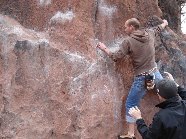 Bouldering in Mount Sanitas.