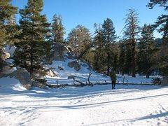 Rock Climbing Photo: A nice Winter day in the Shangri-La Valley, Tramwa...
