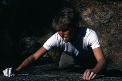Rock Climbing Photo: Camel straight at Ute Pass, 1982.