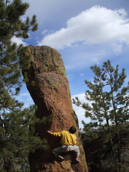 Bouldering on Flagstaff, photo: Bob Horan Collection.