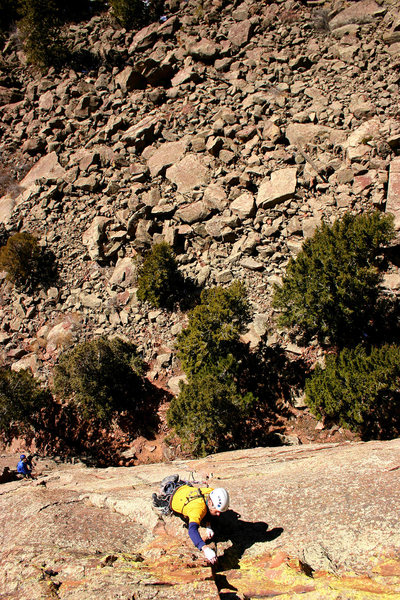 Steve walking the second pitch.