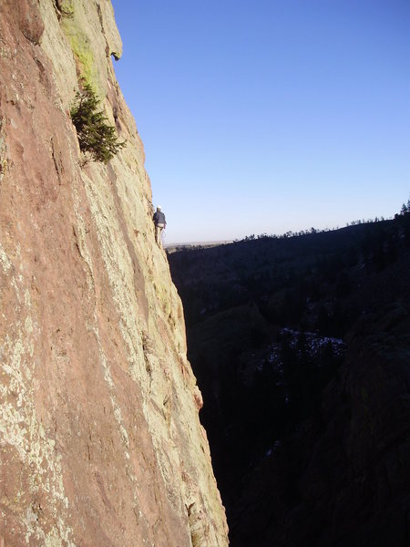 Rock Climbing Photo: Unknown climber on Anthill Direct as seen from Red...