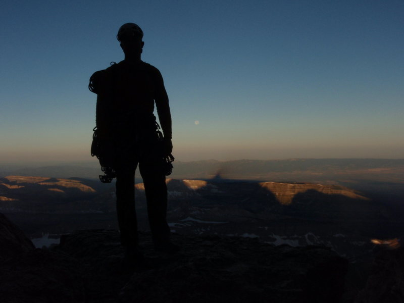 Rock Climbing Photo: Wall Street - Exum ridge