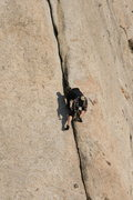 Rock Climbing Photo: Frank shadow boxing on a beautiful Jan day.