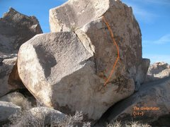 Rock Climbing Photo: The Undertaker (V0+), Joshua Tree.