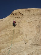 Rock Climbing Photo: Starting the 5.4 pitch 3
