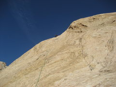 Rock Climbing Photo: Topping out pitch 3