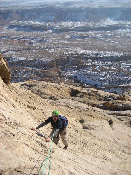 Rock Climbing Photo: Pat on pitch 3