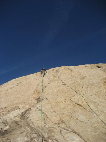 Rock Climbing Photo: Pat on final pitch