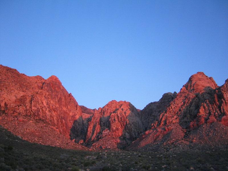 Sunrise on Black Velvet Canyon, Red Rocks