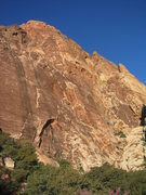 Rock Climbing Photo: Black Velvet Wall from the approach trail...gettin...
