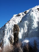 Rock Climbing Photo: The right side of the area - a nice 100' pitch.  T...