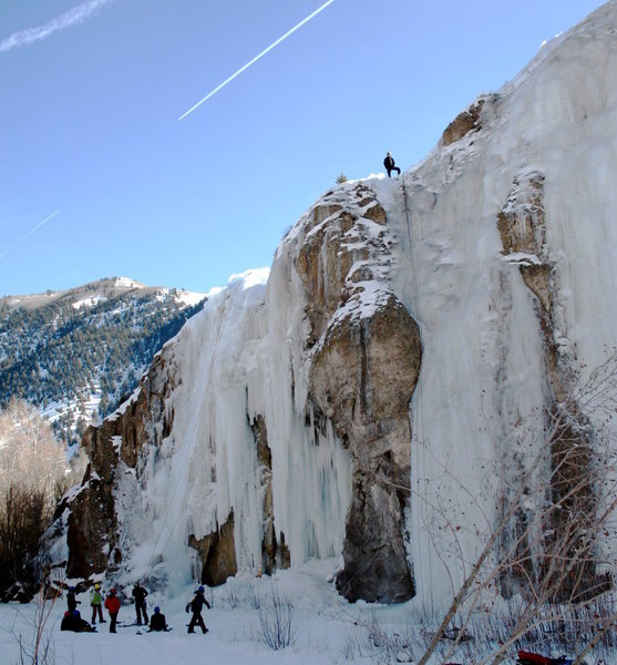 Western State College group learning to ice climb.
