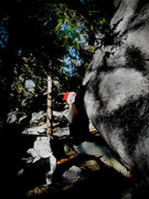 "Rock Climbing Photo: Luke Childers sending the F.A. of ""The Vessel..."
