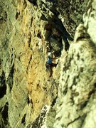 Rock Climbing Photo: Same climb as the other picture - if anyone knows ...