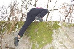 Rock Climbing Photo: Kianna topping out... woo-hoo.