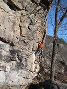 "Rock Climbing Photo: Paul C. making his way up ""Man Servant"""