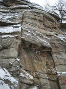 Rock Climbing Photo: Retribution and Nosedive in the winter