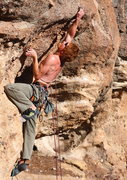 Rock Climbing Photo: Adam S. preparing for the crux.