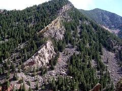 Rock Climbing Photo: Peanuts Wall, up to Continental Crag.
