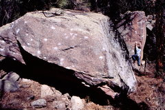 Rock Climbing Photo: Bouldering in Eldorado West on Skyeye Arete.