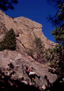 Rock Climbing Photo: Eldorado Canyon is a bouldering paradise.