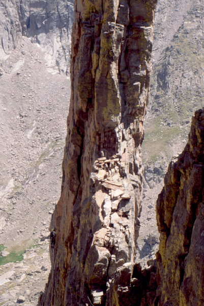 Rock Climbing Photo: Summit fin on Petit Grepon. Photo: Bob Horan.