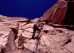 Rock Climbing Photo:  BH heading up Kor-Ingalls.