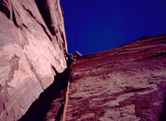 Rock Climbing Photo: The wide section of Kor-Ingalls.