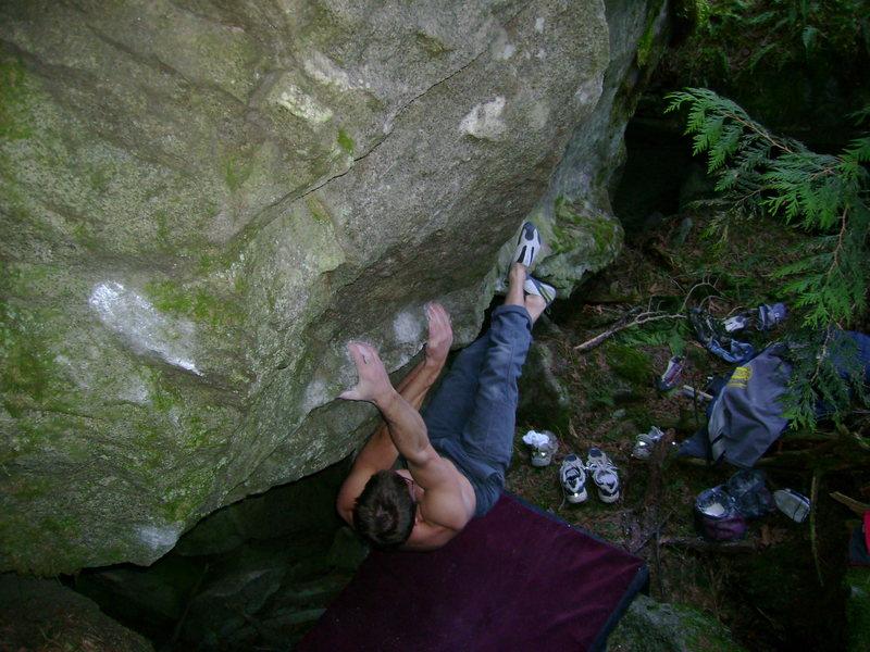 Rock Climbing Photo: Nate on The Bat Cave V8