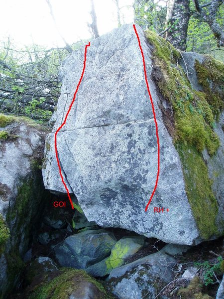 The Rhombus topo showing RH+ and Get Over It.