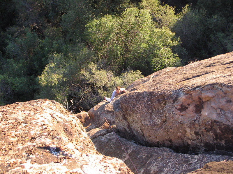 Rock Climbing Photo: One of the better routes here.