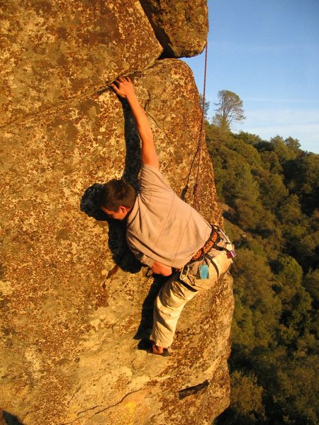 Rock Climbing Photo: This is the move after the dyno, pretty reachy!