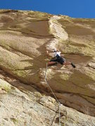 "Rock Climbing Photo: Scott on the awesome ""Sheep Thrills"", ju..."