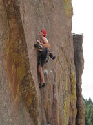 Rock Climbing Photo: Scott getting ready for the crux reach on Wide Cou...
