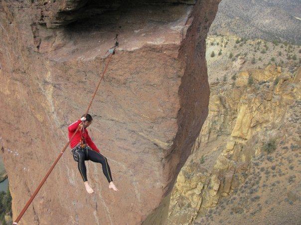 Rock Climbing Photo: Braden on highline