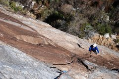 Rock Climbing Photo: Second pitch up Willy Javalina