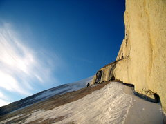 Rock Climbing Photo: Jordon Griffler Leading on Cerro Standhardt at sun...