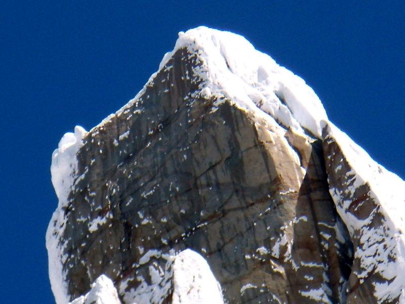 Rock Climbing Photo: Cerro Torre Summit headwall on Jan 12th 2009.