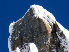 Rock Climbing Photo: Cerro Torre Summit headwall on Jan 12th 2009.